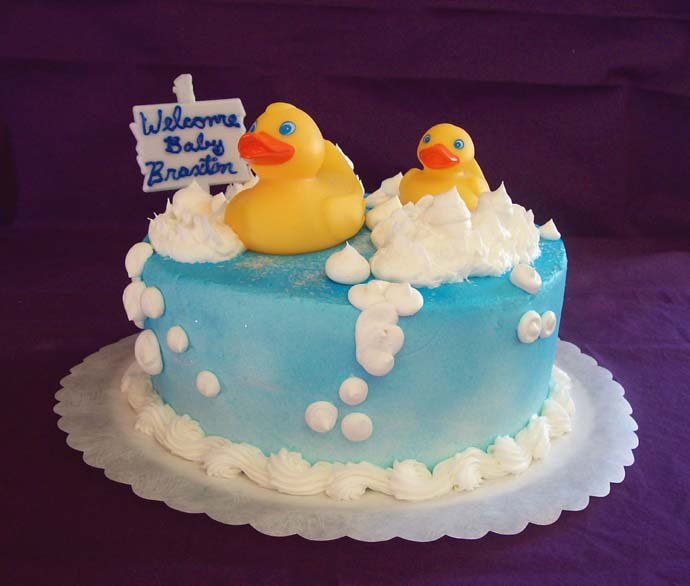 rubber ducky baby shower cake picture