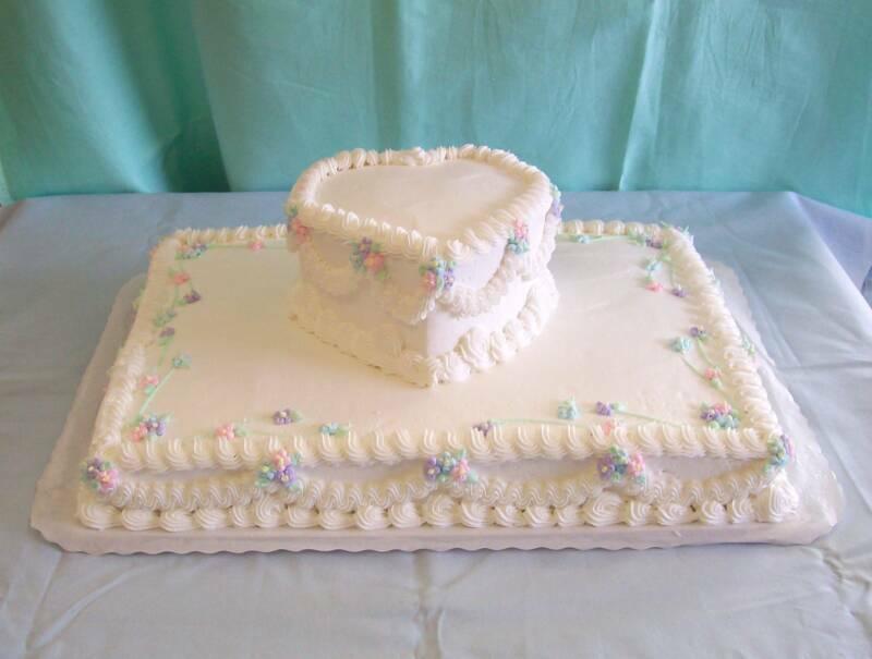 Double Heart Wedding Cake